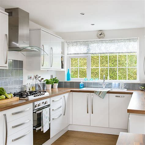 White u shaped kitchen   Decorating   Ideal Home