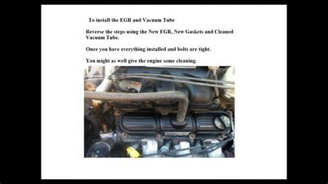 dodge  caravan  replace egr valve youtube