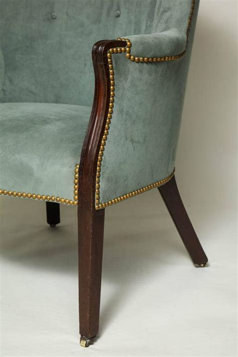 antique mahogany barrel back wing chair for sale at 1stdibs georgian mahogany barrel back wing chair at 1stdibs