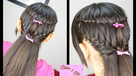 braid hairstyles for school youtube combo braids waterfall into french braided hairstyles