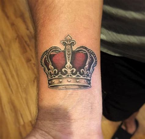 king tattoo on wrist crown tattoo images designs