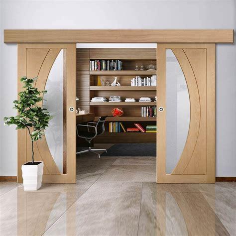 double sliding door wall track salerno oak doors