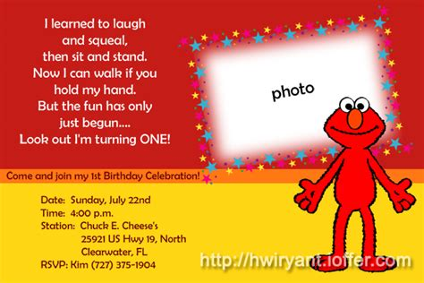 9 Best Images Of Elmo First Birthday Printable Elmo Birthday Party Free Printables Free Elmo Birthday Invitations Template Free