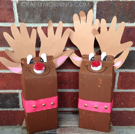 milk carton reindeer christmas craft for kids crafty morning