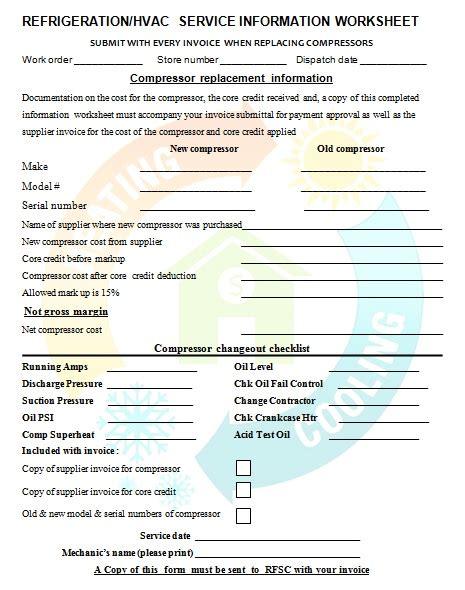 printable hvac invoice 18 free hvac invoice templates demplates