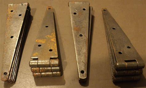 Antique Barn Door Hinges Antique Vintage Lot Of 12 Large Barn Door Hinges Ebay