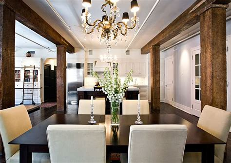 rustic modern dining room rustic wood beams design ideas