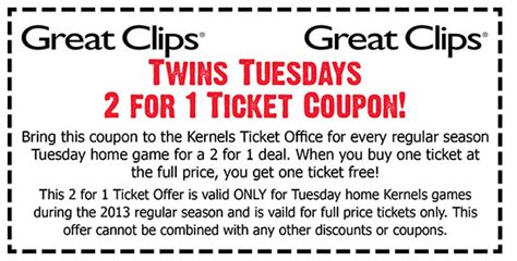 discount haircuts on tuesday great clips coupons 2015