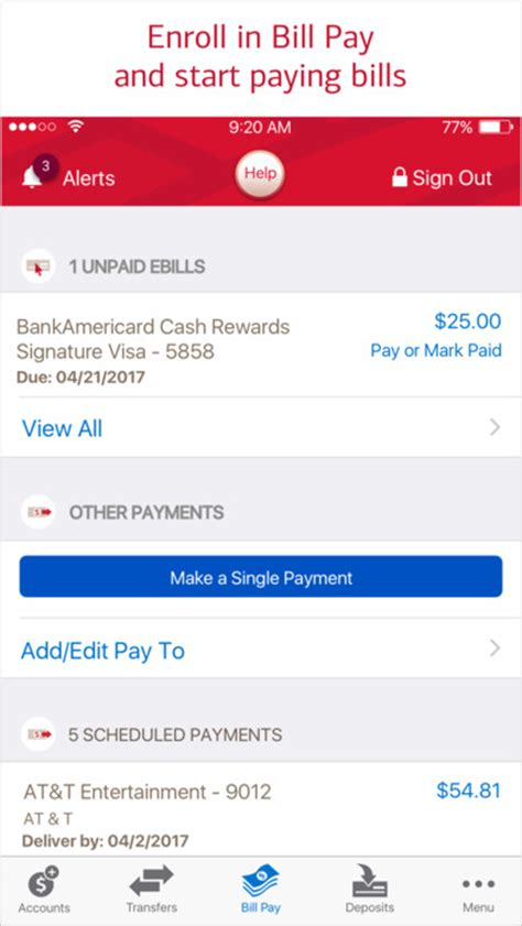 bank of america apk bank of america mobile banking app android apk