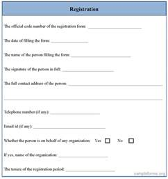 sample registration forms images