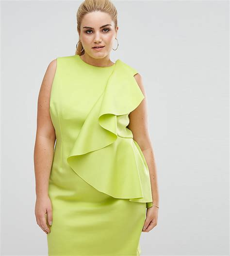 A12831 Rara Dress Premium Brukat asos curve cold shoulder structured dress with ruffle shop asos curve sales at chichunt