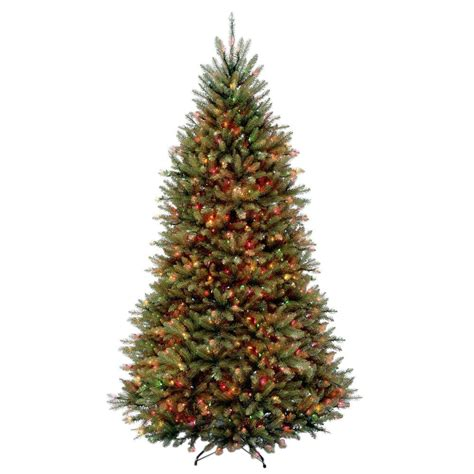 dunhill artificial tree corporation national tree company 9 ft dunhill fir hinged artificial tree with 900 multicolor