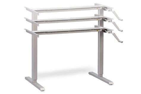 hand crank adjustable height desk hand crank height adjustable standing desk multitable com
