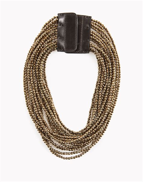 Brunello Cucinelli Necklace brunello cucinelli necklace in gold copper lyst