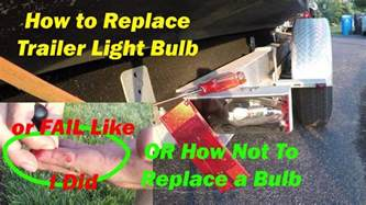 how to replace brake light on a boat trailer how to