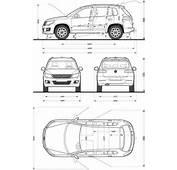 VW Tiguan Interior Dimensions 2009 TouaregSpecs  WBWagen