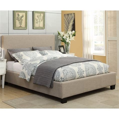 geneva bedroom furniture modus geneva linen platform bed in toast 9al7lx8
