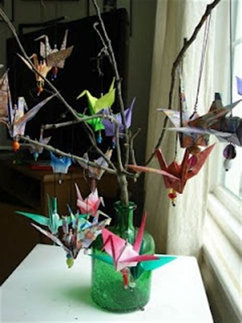 Origami Crane Centerpiece - paper cranes origami cranes and centerpieces on