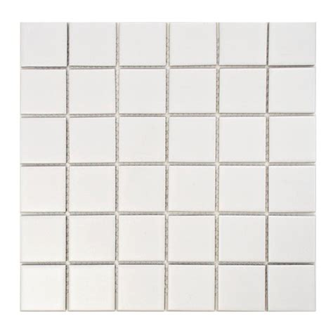 1 Inch Floor Tile White - merola tile metro matte white 12 1 4 in x 12 1 4 in