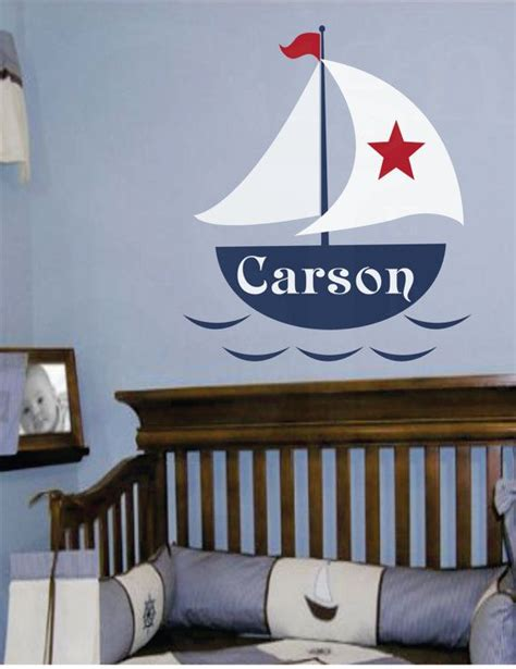 nautical themed names sailboat wall decal personalized sailboat decal nautical