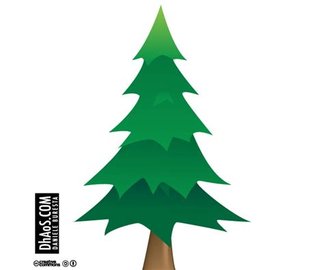vector christmas tree tutorial pine tree vector free download clipart best