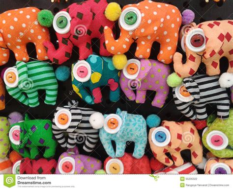 Handmade Souvenirs - handmade elephant dolls stock photo image of dolls