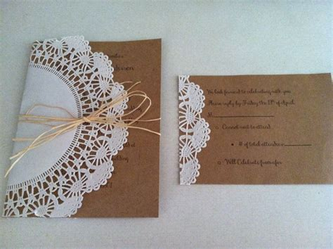 DIY wedding invites: 5x7 card stock for invite, 4x6 card