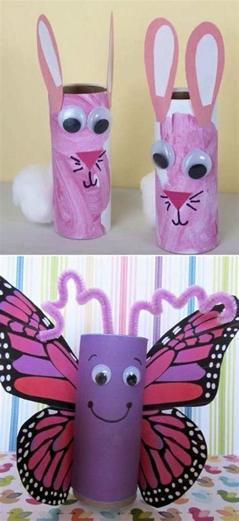 Recycled Toilet Paper Roll Crafts - toilet paper roll crafts for recycled things