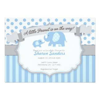 Elephant Baby Shower Invites by Elephant Theme Baby Shower Invitations Announcements