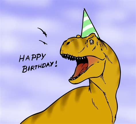 Dinosaur Birthday Cards Dinosaur Birthday Card By Robthedoodler On Deviantart