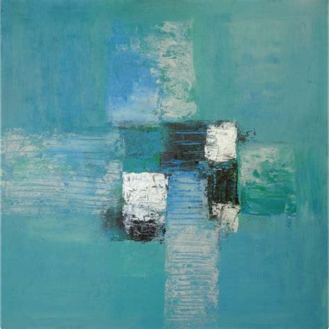 Peinture Bleue Turquoise by Tableau Contemporain Abstrait Carr 233 Bleu Turquoise 50x50 Cm