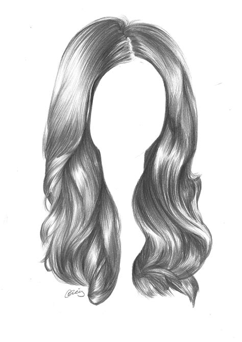 drawing hair using standard graphite pencils to draw hair