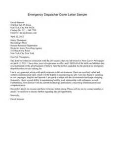 police dispatcher cover letter letter of recommendation