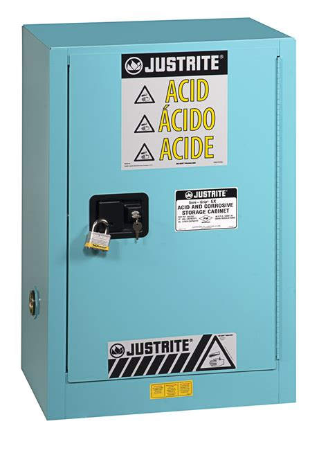 justrite flammable storage cabinet justrite 896002 sure grip ex corrosives acid steel safety