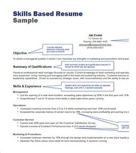 Skills Based Resume Template Free by Retail Resume Templets 7 Free Sles Exles