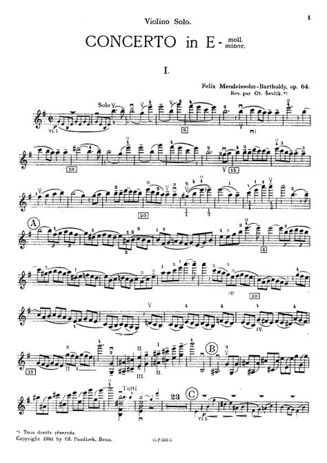 Analytical studies for Mendelssohn's Violin Concerto, Op