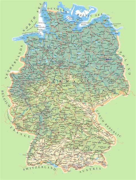 roadmap of germany large detailed map of germany