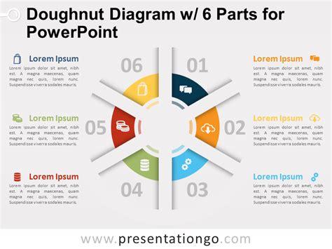 doughnut diagram doughnut diagram with 6 parts for powerpoint