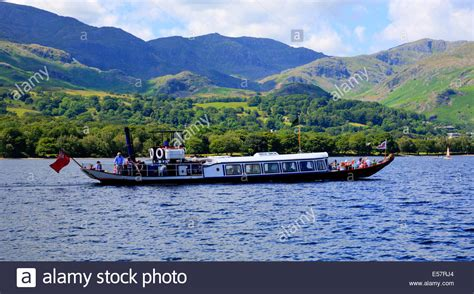 gondola steam boat on coniston water lake district england - Steam Boat On Coniston