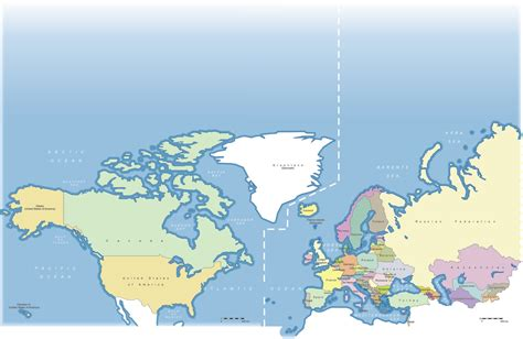 map of usa canada and europe unece region