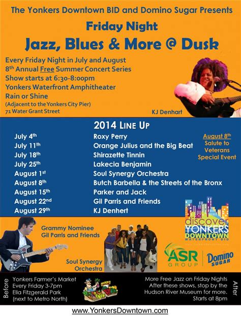Friday Night: 8th Annual Free Summer Concert Series   Jazz, Blues & More @ Dusk   Yonkers Tribune.
