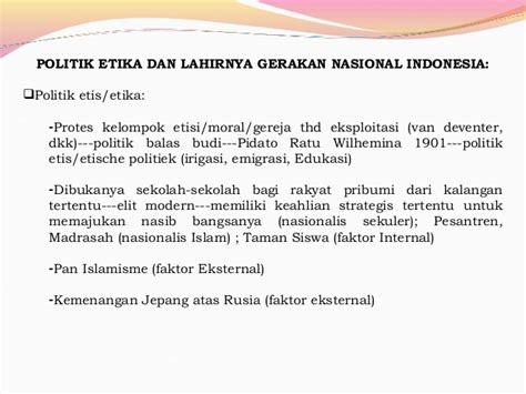 Moral Dan Etika Elit Politik sejarah perjuangan kemerdekaan indonesia