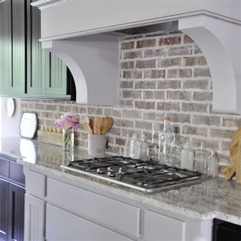kitchen brick backsplash brick backsplash kitchen top brick tile backsplash