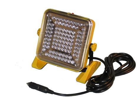 12v dc auto plug end 100 led flood light kamrock lights