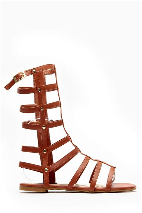 mid calf gladiator sandals dollhouse mid calf length chestnut gladiator sandals