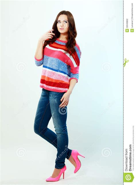 stylish quates poses girlz girl in fashion stylish jeans stock photography image