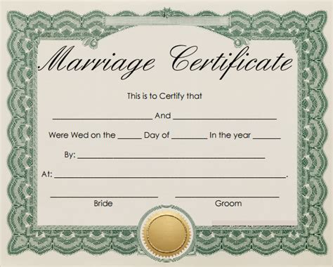 printable marriage certificate template sle marriage certificate template 18 documents in