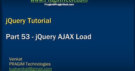 tutorial on jquery ajax sql server net and c video tutorial jquery ajax load