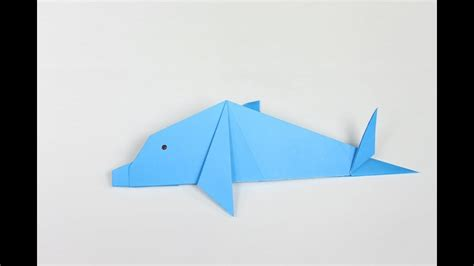 How To Make Origami Dolphin - origami dolphin how to make an easy origami dolphin step