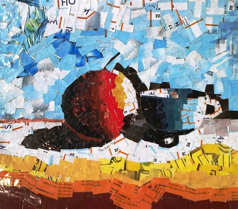 How To Make A Collage With Paper - paper collage by a secondary school student eghoartculture